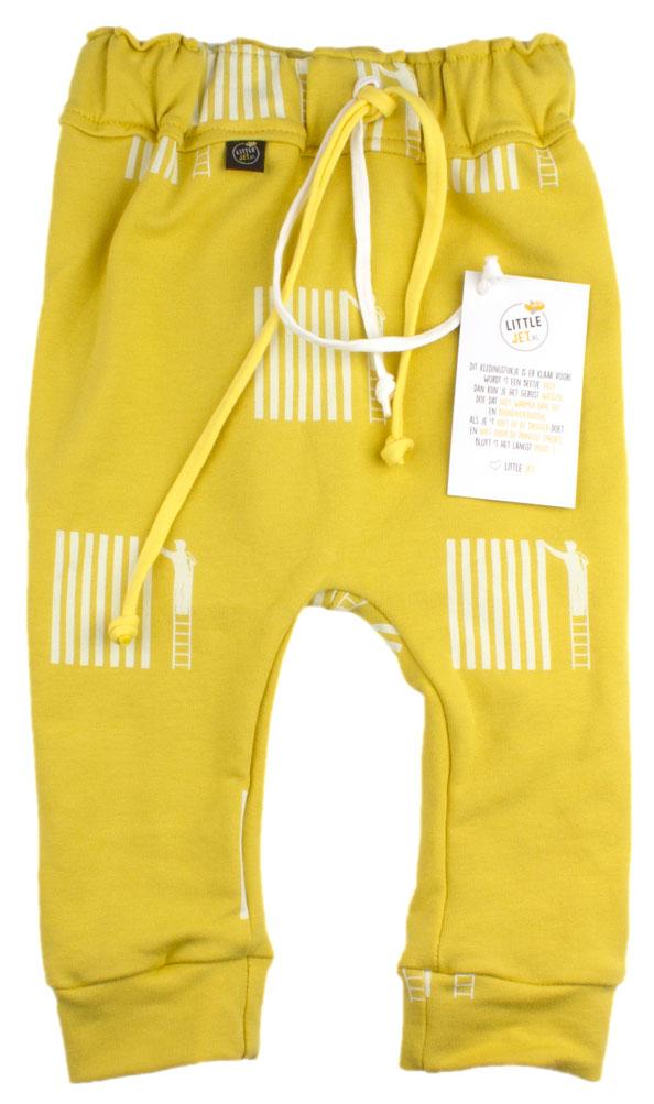 geel met strepen en schilders