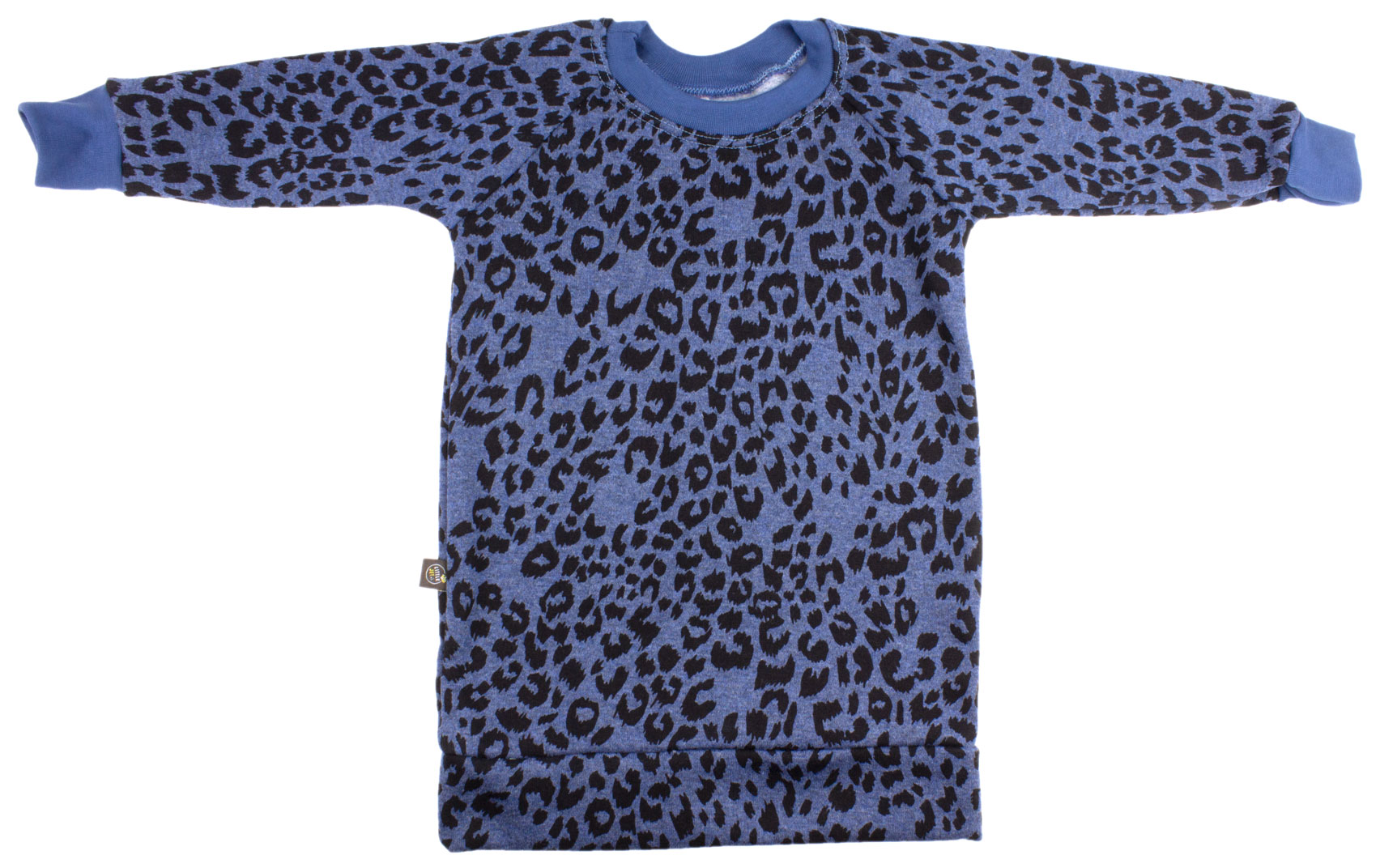 jeansblauw met panterprint