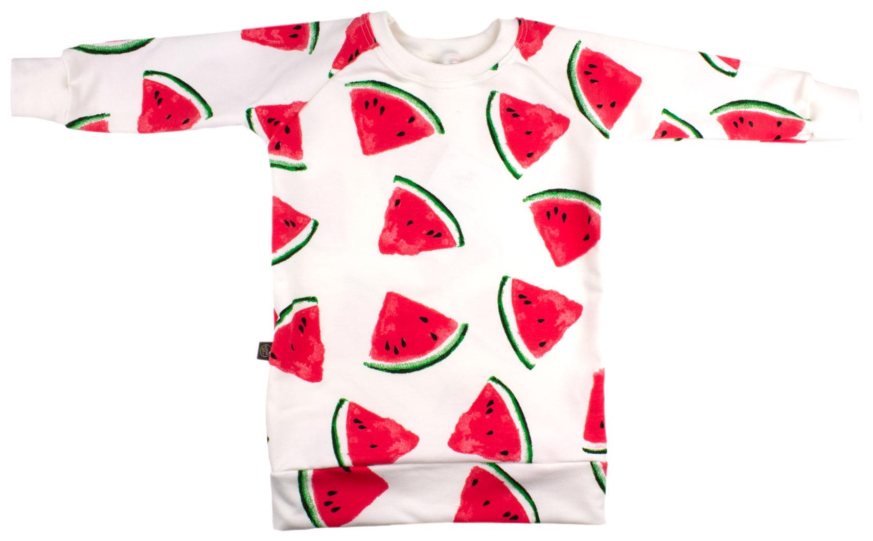 gebroken wit met meloenen