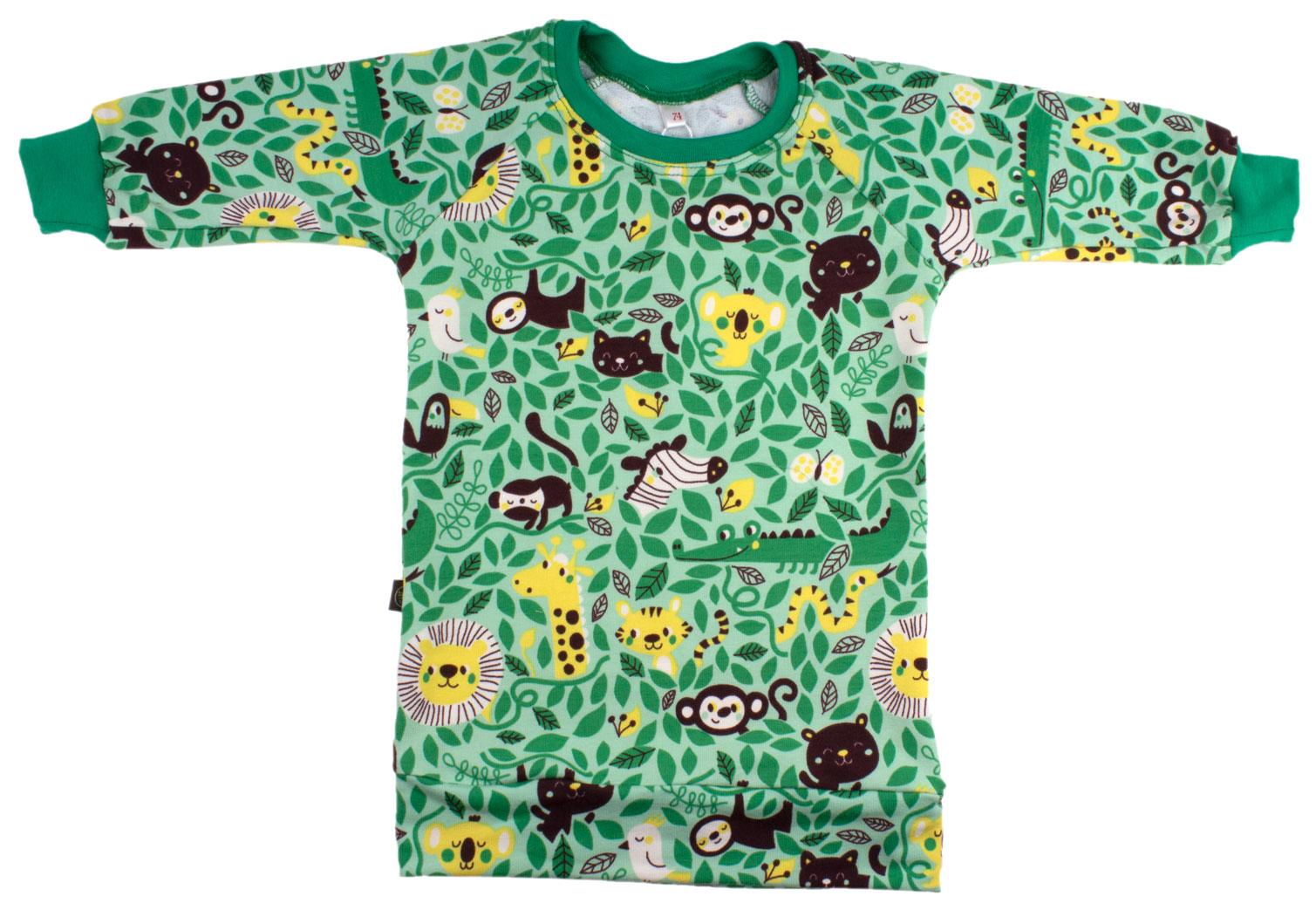 groen met jungledieren