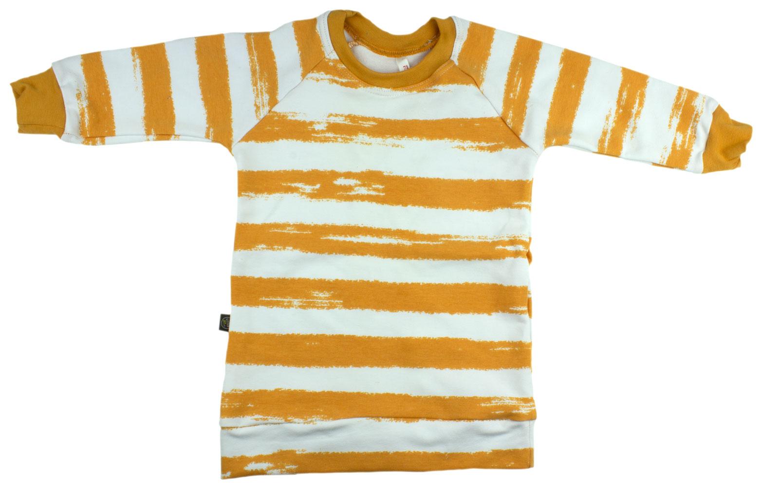 wit-okergeel gestreept (sweaterdress)