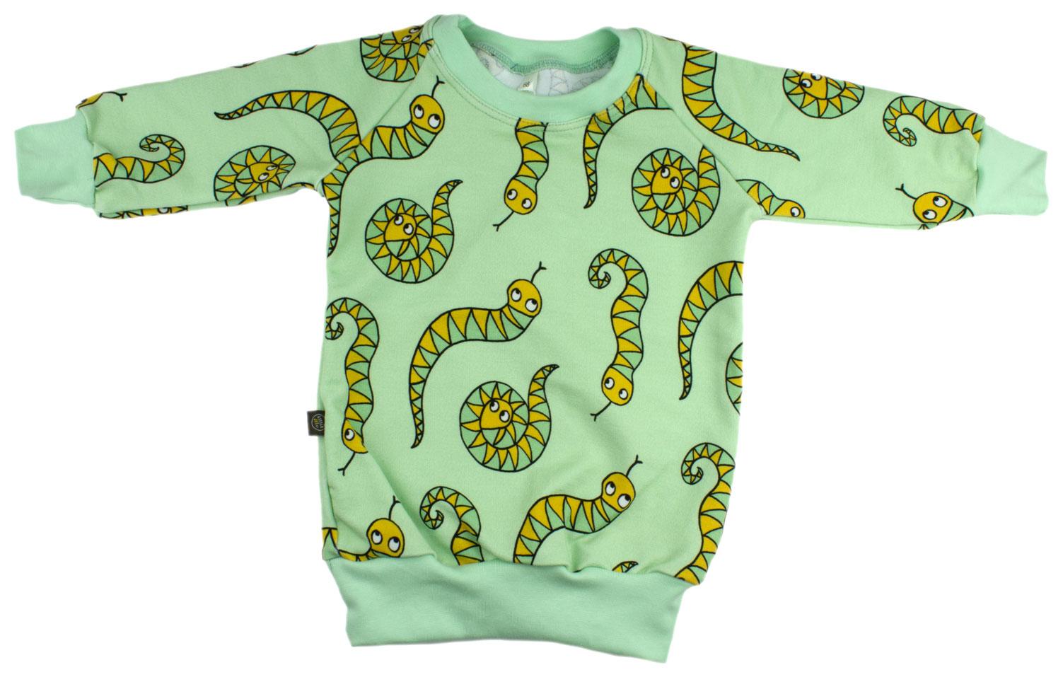 mintgroen met slangen