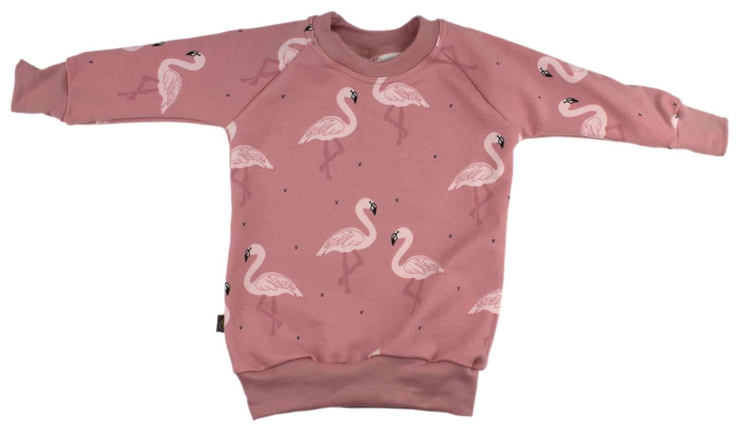 donkerroze met flamingo