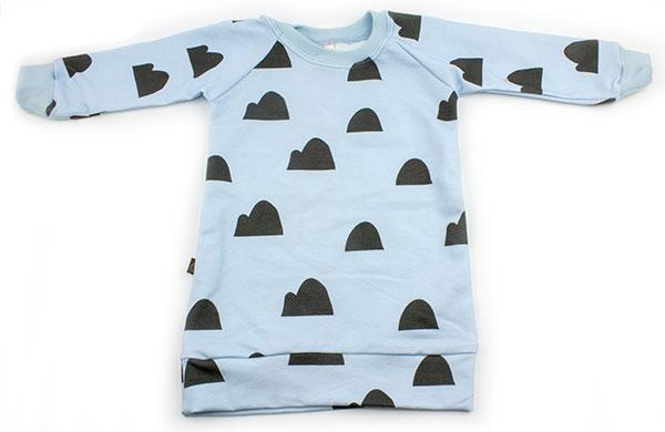 lichtblauw met heuveltjes (sweaterdress)