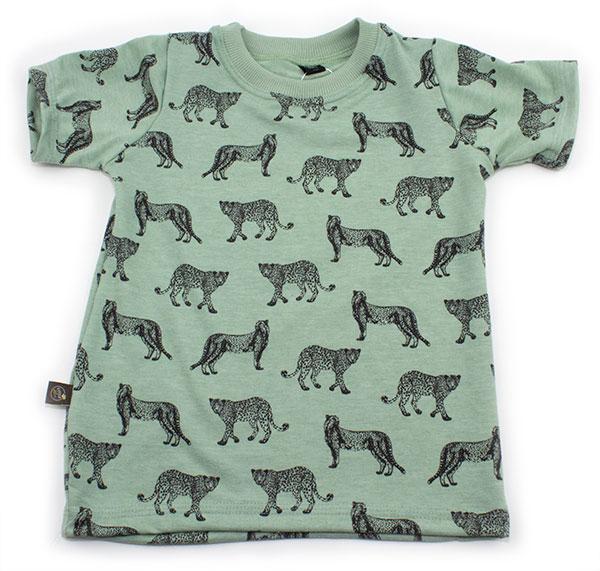 mintgroen met luipaarden