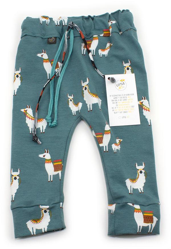 oudblauw met lamas
