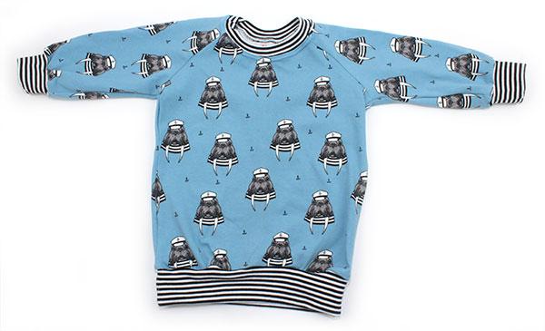 blauw met walrussen