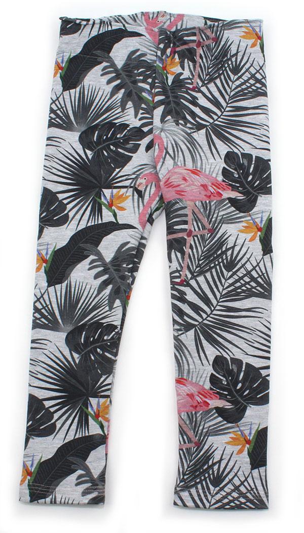 grijs met flamingo en bladeren