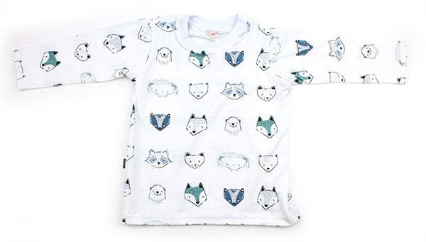 wit met vosjes en beertjes