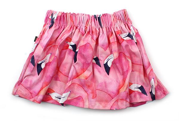 roze met flamingos