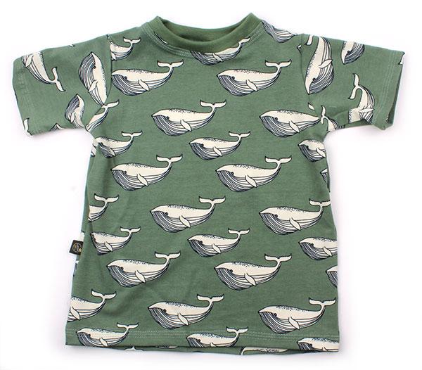 groen met walvissen