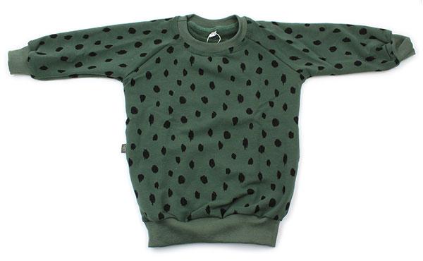 groen met zwarte dots