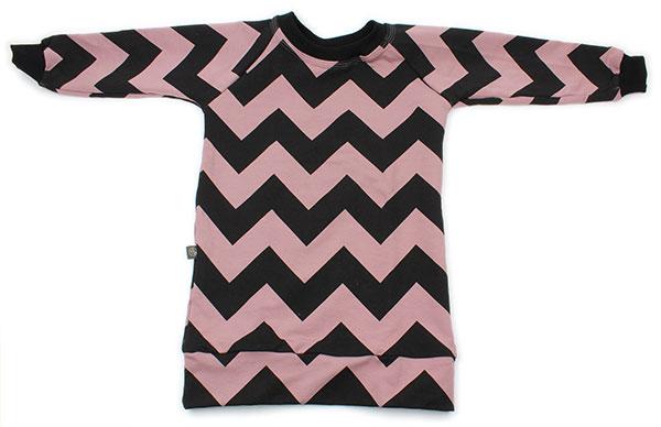 roze-paars met zwart zigzag