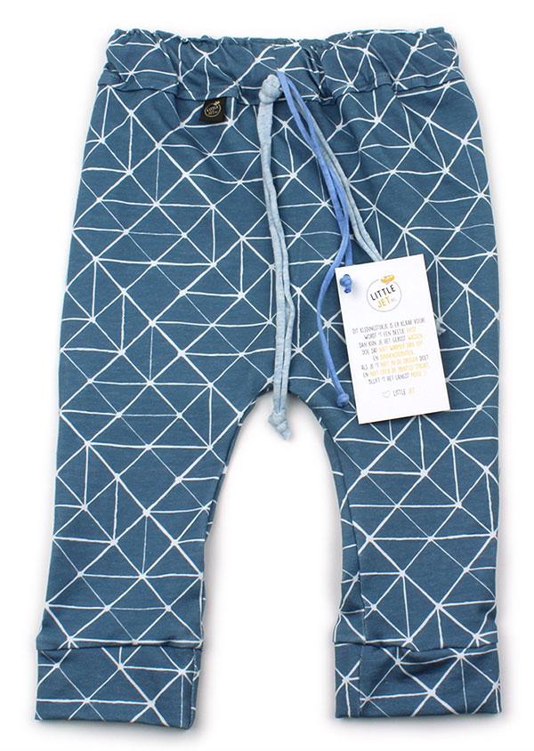 blauw met witte mozaiek