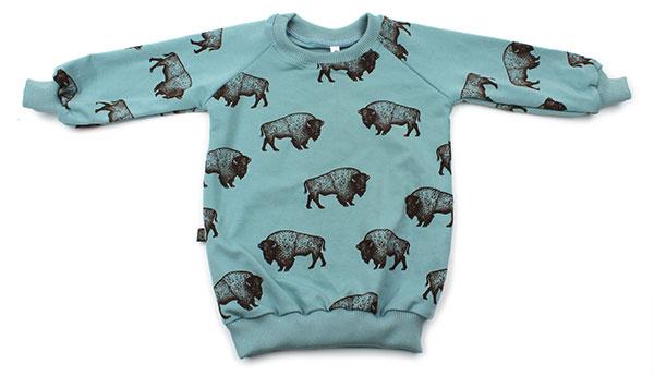 blauw met bizons