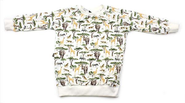 wit met safaridieren