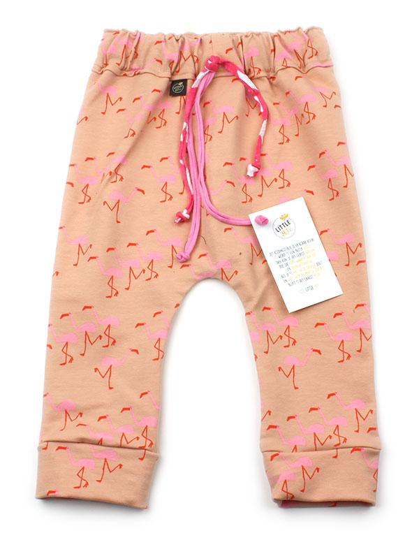 zalmroze met flamingos