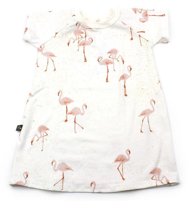 wit met flamingos
