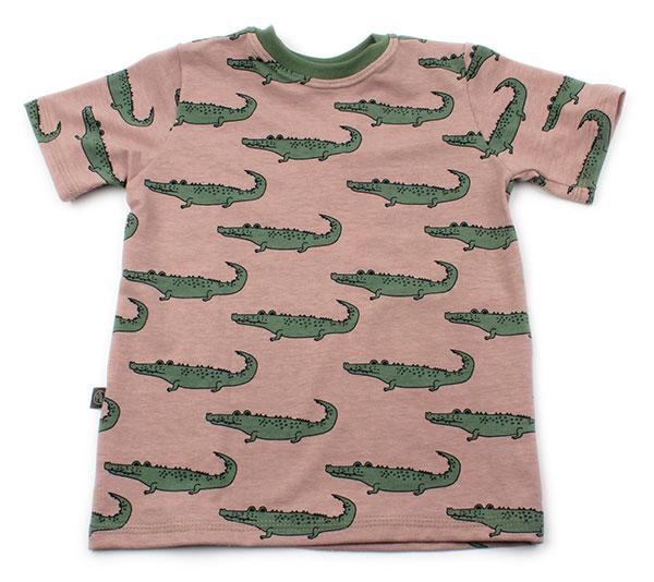 roze met krokodillen