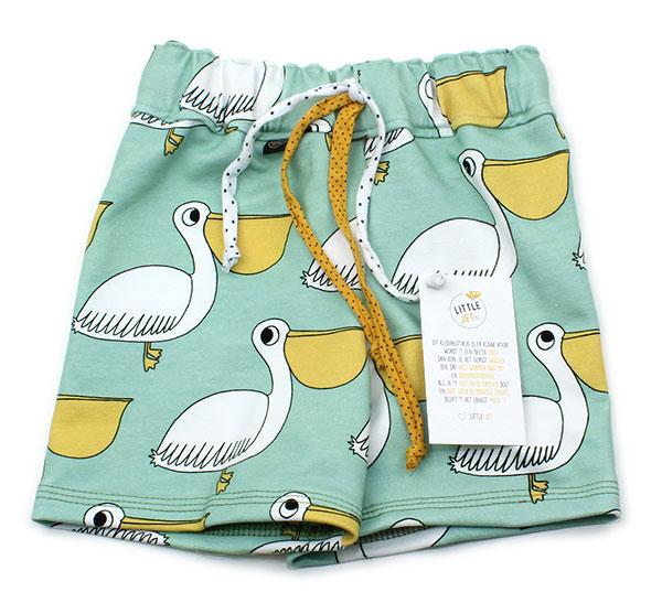 mintgroen met pelikanen