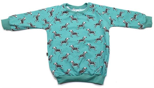 aquablauw met zebra