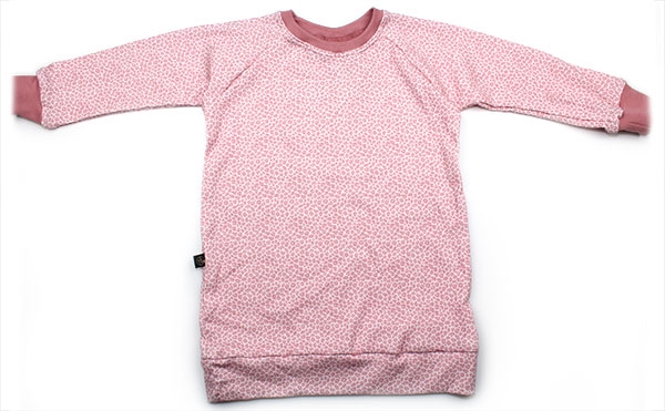 roze luipaardprint rib
