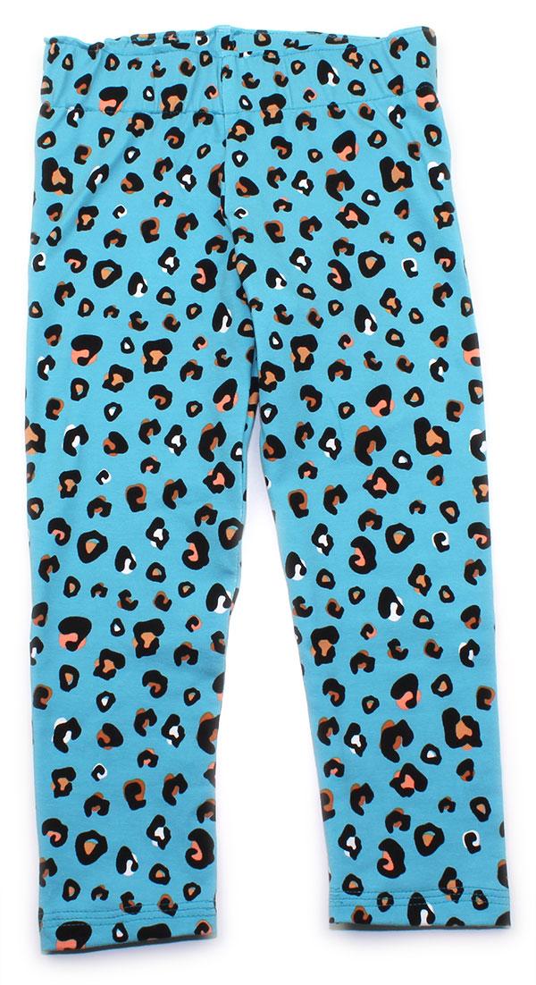 blauw luipaardprint