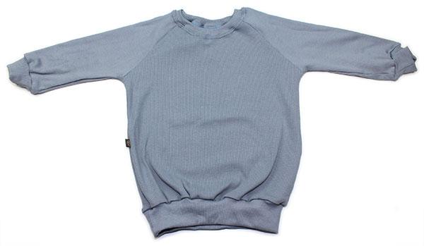 jeansblauw rib
